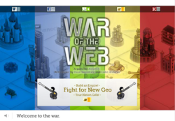 War of the Web - New Geo Title Screen