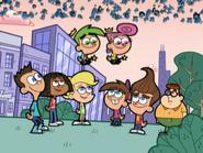 2D Sheen, 2D Libby, 2D Cindy, Cosmo, Wanda, Timmy, 2D Jimmy, & 2D Carl