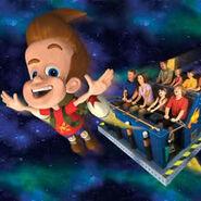 Universal Studios Jimmy Neutron's Nicktoon Blast Mark I Rocket Poster