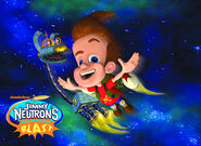 Universal Studios Jimmy Neutron's Nicktoon Blast Poster