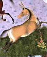 Akvan, The Onager-Div (The Shahnama of Shah Tahmasp)