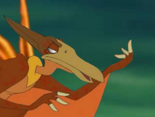 Pterano flipping the bird 01