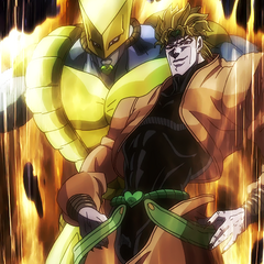 DIO finally revealing his Stand, The World