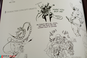 Darkstalkers artbook sketches Moody Blues