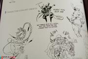 Darkstalkers artbook sketches Moody Blues