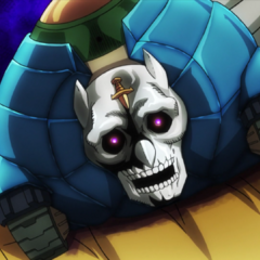 Killer Queen's hand and secondary bomb, Sheer Heart Attack, is revealed.