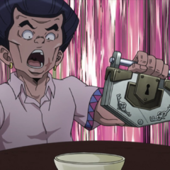 Tamami discovers the method of Josuke's cheating.