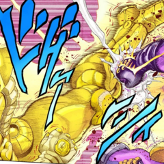 Star Platinum's final clash with The World