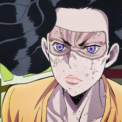 Yukako's face crumbling off.