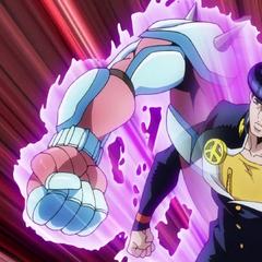 Josuke attacks with <a href=