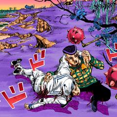 Josefumi rescues Kira, bringing him to the Rokakaka Tree