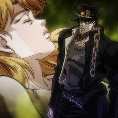 Jotaro betting his mother's soul