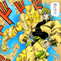 DIO revealing his Stand, <i><a href=