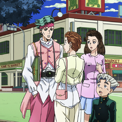 Koichi introduces his mom and sister to Rohan.