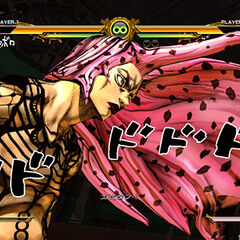 Diavolo activating his HHA, <i>ASB</i>