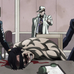 Josuke and the others discover the corpse of <a href=