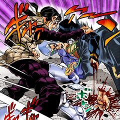 Abbacchio severs his own hand to get <a href=
