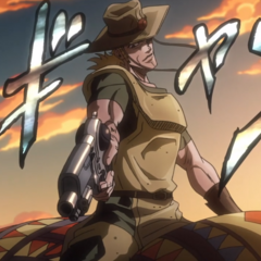 Hol Horse summoning his Stand, <a href=