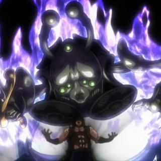 Ebony Devil's true form alongside Devo