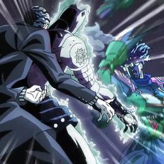 Giving the finishing blow to Kira.