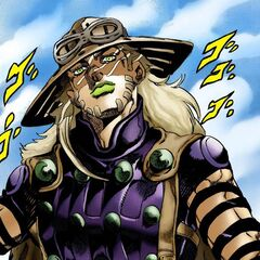 Gyro Zeppeli, the first Zeppeli introduced in Steel Ball Run