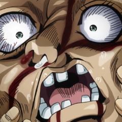 Shigechi's face mangled from the explosion.