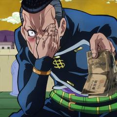Okuyasu baits Shigechi closer to him with cash.