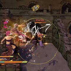Trish fighting, <i>EoH</i>