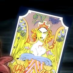 Tarot card representing Temperance