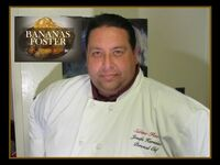 Joey in his chef attire.