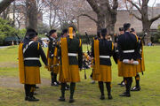 Members of Irish Army Pipe Band (actually the Air corps)