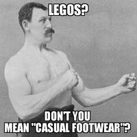 Overly Manly Man Legos