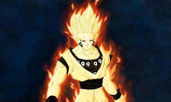 Goku s super saiyan bijuu mode by immortalavenger1000-d7rocvp