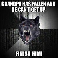 Insanity Wolf Grandpa