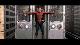 Spiderman stops train