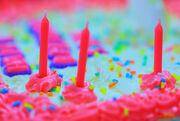 Free Pretty Princess Pink Happy Birthday Cake Colors Creative Commons
