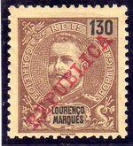 Lourenço Marques 1911 D. Carlos I Overprinted k