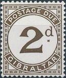 Gibraltar 1956 Postage Due Stamps b