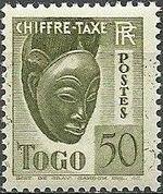 Togo 1941 Postage Due f