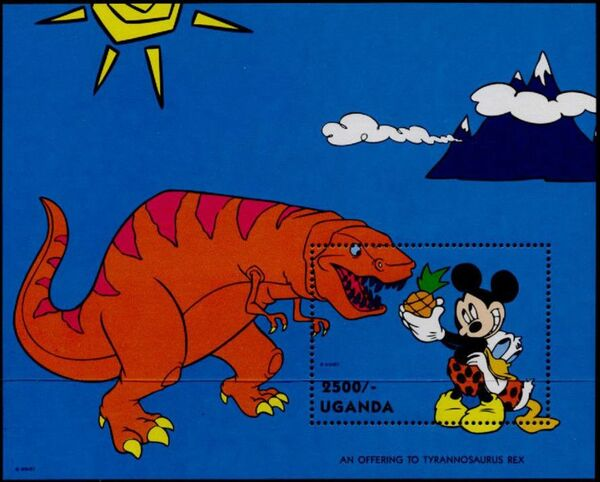 Uganda 1993 Mickey Mouse and Friends with Dinosaurs i