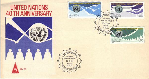 Malta 1985 United Nations 40th Anniversary h