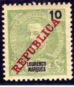Lourenço Marques 1911 D. Carlos I Overprinted c