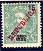 Lourenço Marques 1911 D. Carlos I Overprinted d