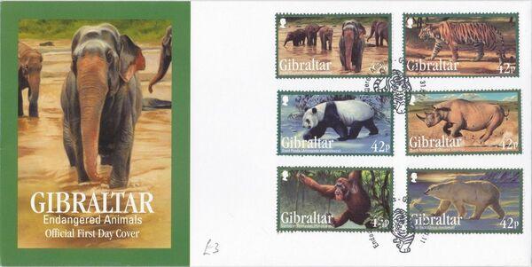Gibraltar 2011 Endangered Animals FDCa
