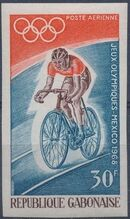 Gabon 1968 19th Summer Olympic Games Mexico City f