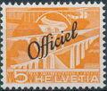 Switzerland 1950 Engineering - Switzerland Postage Stamps of 1949 Overprinted Officiel a.jpg