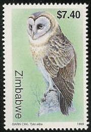 Zimbabwe 1999 Native Owls 3th Issue c