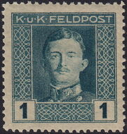 Austria 1917-1918 Emperor Karl I (Military Stamps) a