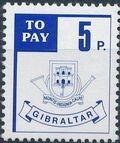 Gibraltar 1984 Postage Due Stamps c