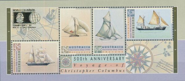 Australia 1992 500th Anniversary of the Voyage of Christopher Columbus j